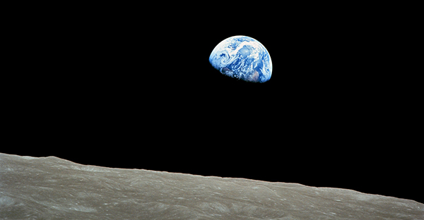 Earthrise photo by Apollo 8 astronaut Bill Anders.
